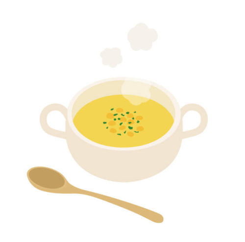 Illustration of a warm potage